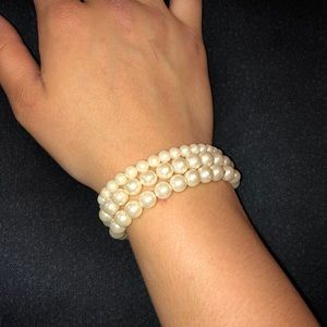 Pearl Stretchy Bracelet Set of 3
